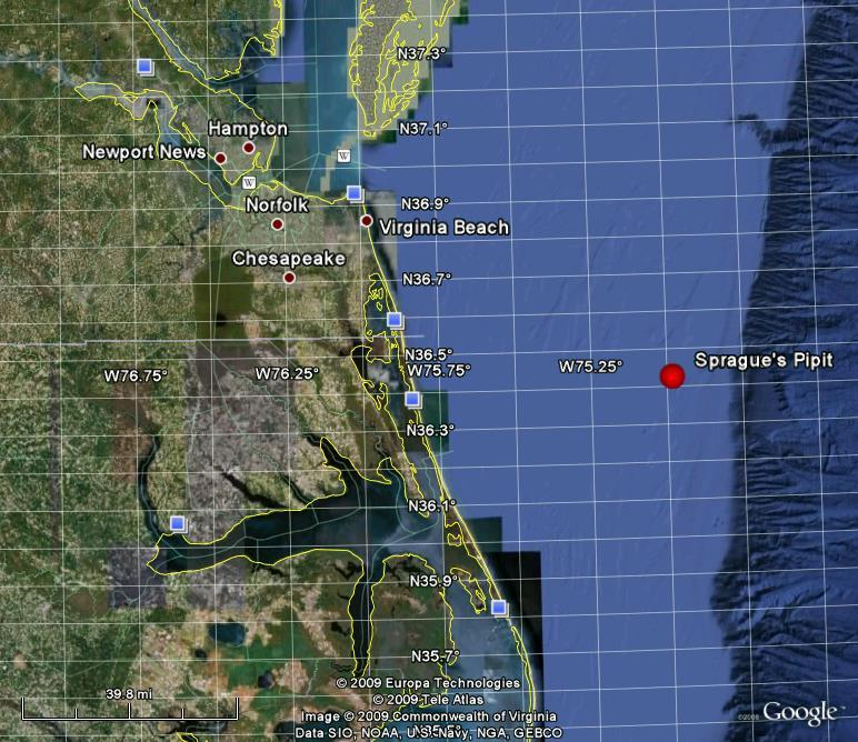 Location of Sprague's Pipit Sighting